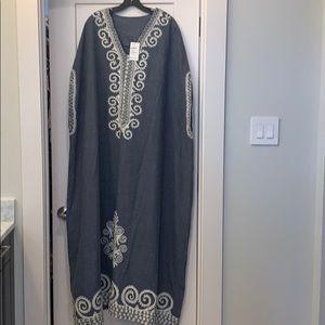 Long Tent Denim Dress